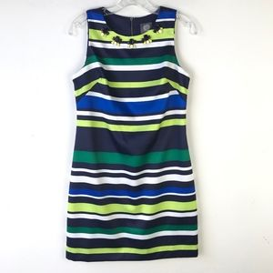 Vince Camuto Striped Embellished A-Line Dress #550